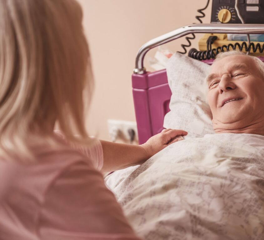 Old man in hospital